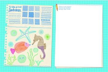 Kleurplaten Zeepaard.Zeepaard En Vissen Tekenen Inkie