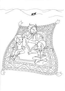 Twee Meisjes Op Een Paard Kleurplaat Inkie Een Teken En Tijdschrift Voor Eigenwijze Meiden